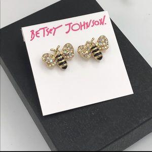 Betsey Johnson Bumblebee Stud Earrings